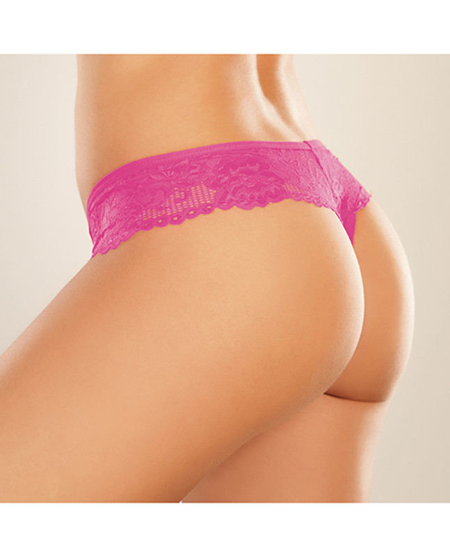 Allure Adore Chiqui Love Panty  Hot Pink O/S