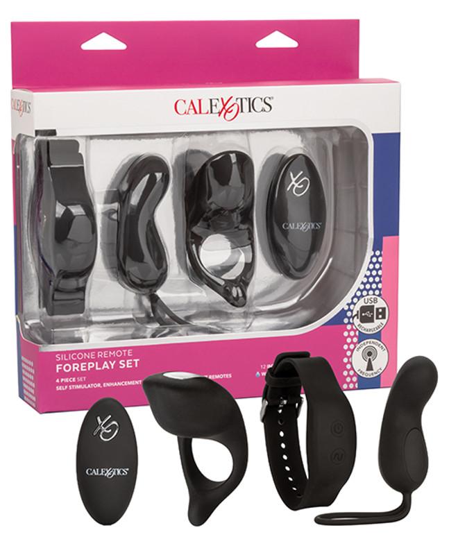 CalExotics Silicone Remote Foreplay Set Combo Vibrator