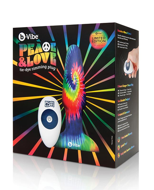 B - Vibe Peace & Love Tie - Dye Rimming Butt Plug