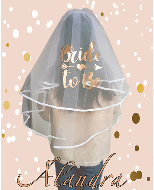 Bride To Be Luxury Veil - Rose Gold