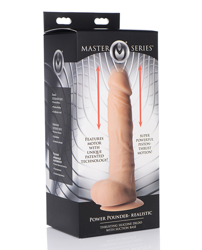 XR Master Series Power Pounder Realistic Trusting Silicone Dildo - Ivory