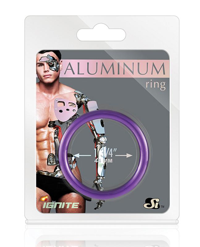 "Si Novelties Aluminum Cock Ring - Royal Purple 1.75"""