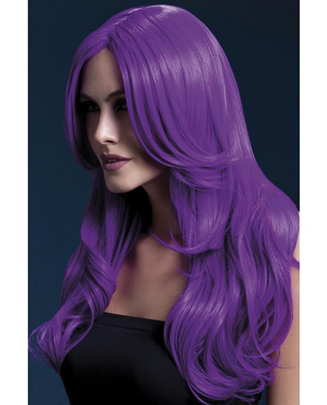 Smiffy The Fever Wig Collection Khloe - Neon Purple