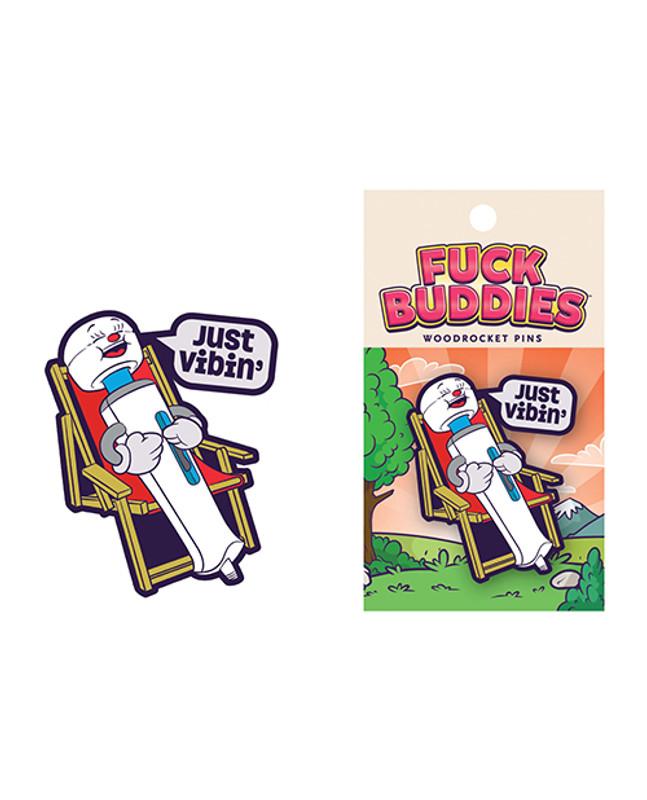 Wood Rocket Fuck Buddies Just Vibin' Pin - Multi Color