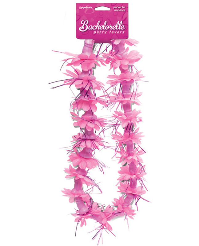Pipedream Bachelorette Party Favors Pecker Lei Necklace