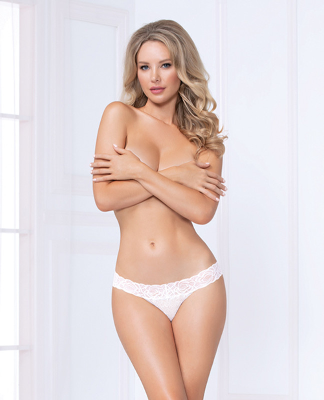 Seven 'til Midnight Costume Lace Thong Panty White Md