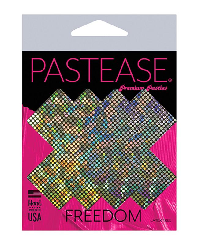 Pastease Disco Glitter Plus X Pasties  - Silver O/S
