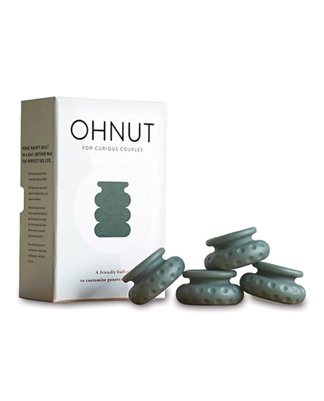 Ohnut Intimate Wearable Penetration Depth Bumper - Aloe Set Of 4