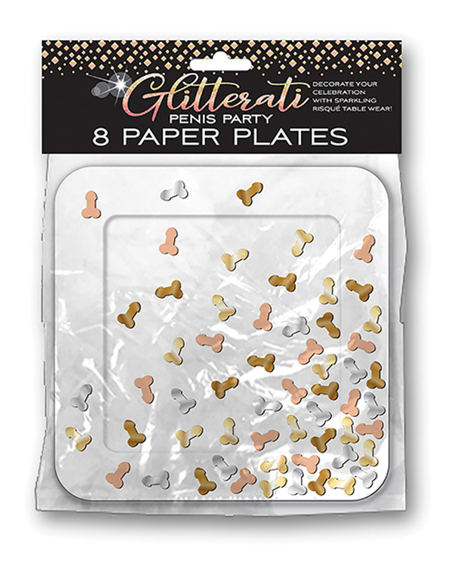 Glitterati Penis Party Pates - Pack Of 8