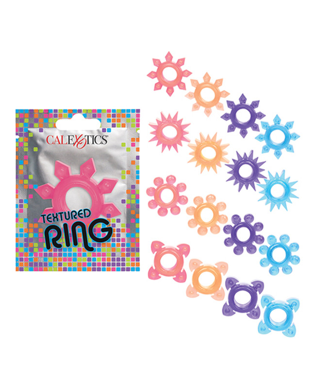 Foil Pack Textured Ring - Pack Of 24 Multi Color
