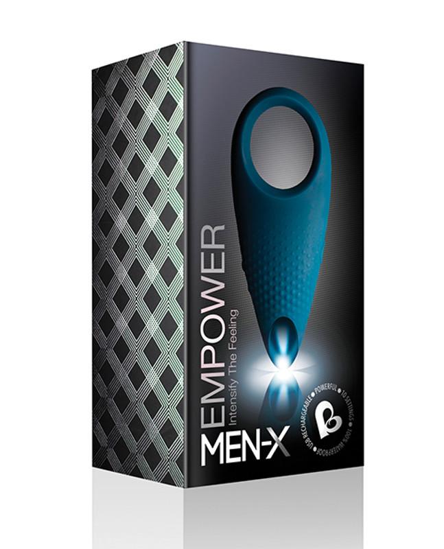 Rocks-Off Men-X Empower Couples Stimulator Cock Ring - Blue
