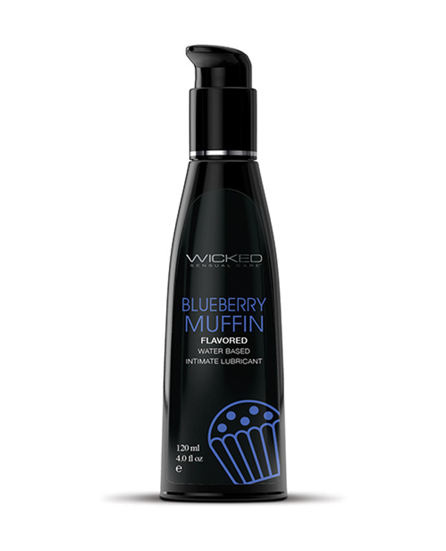 Wicked Sensual Care Water Based Lubricant - 4 Oz Blueberry Muffin