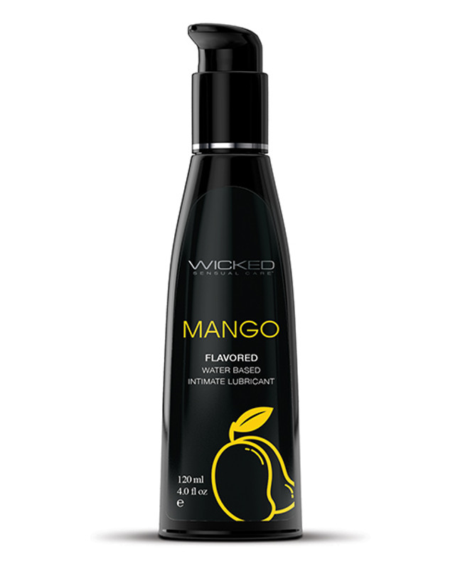 Wicked Sensual Care Water Based Lubricant - 4 Oz Mango