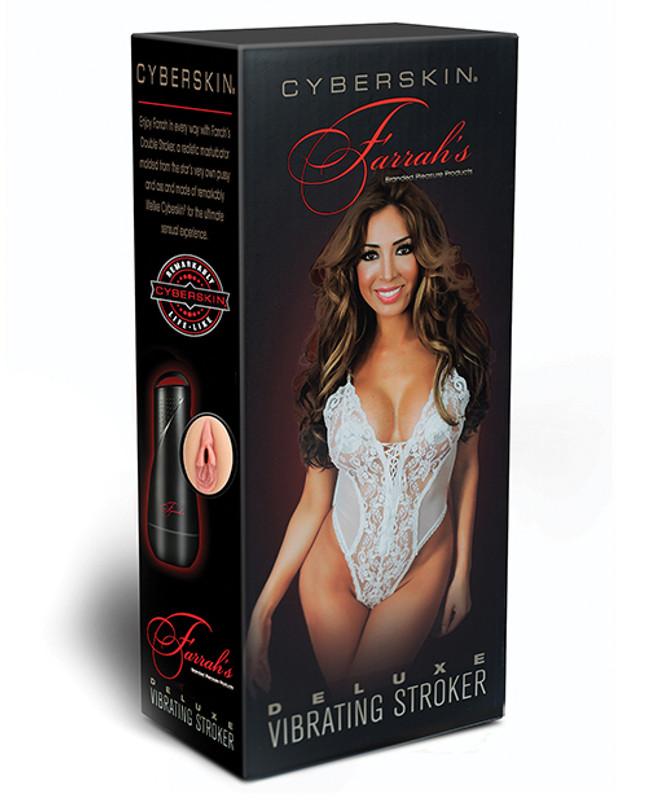 Topco Cyberskin Celebrity Series Farrah's Deluxe Vibrating Masturbator Stroker