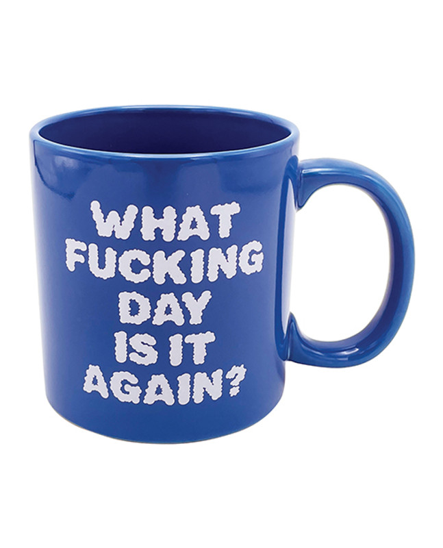 Attitude Mug What Fucking Day Is It Again - 22oz
