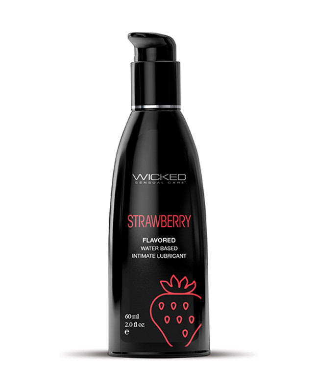 Wicked Sensual Care Water Based Personal Lubricant - 2 Oz Strawberry