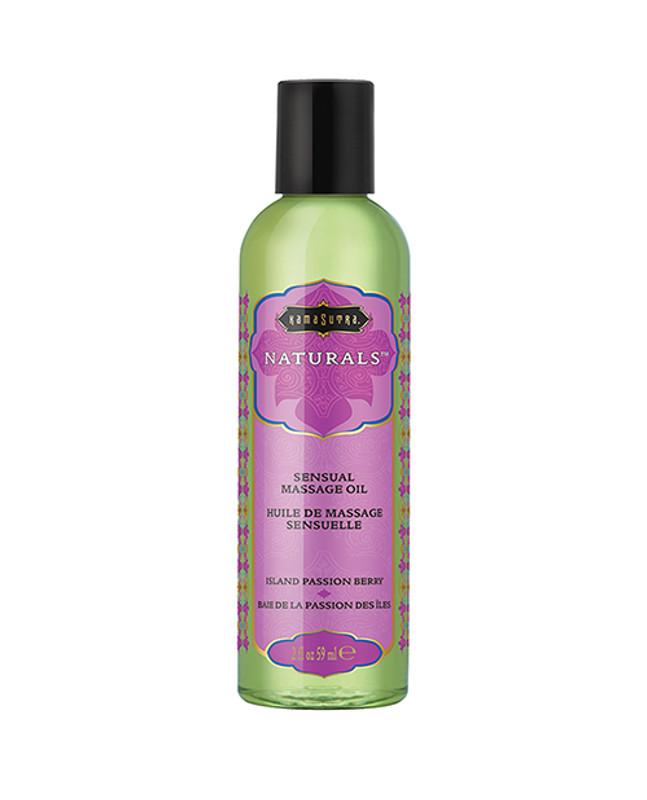 Kama Sutra Naturals Massage Oil - 2 Oz Island Passion Berry