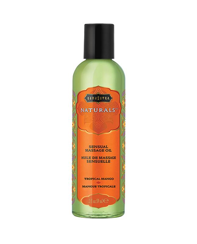 Kama Sutra Naturals Massage Oil - 2 Oz Tropical Mango