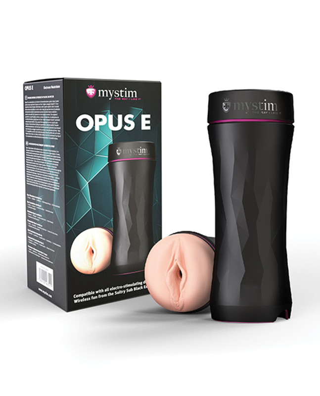 Mystim Electro Stimulation Opus E Vagina Vibrator - Black