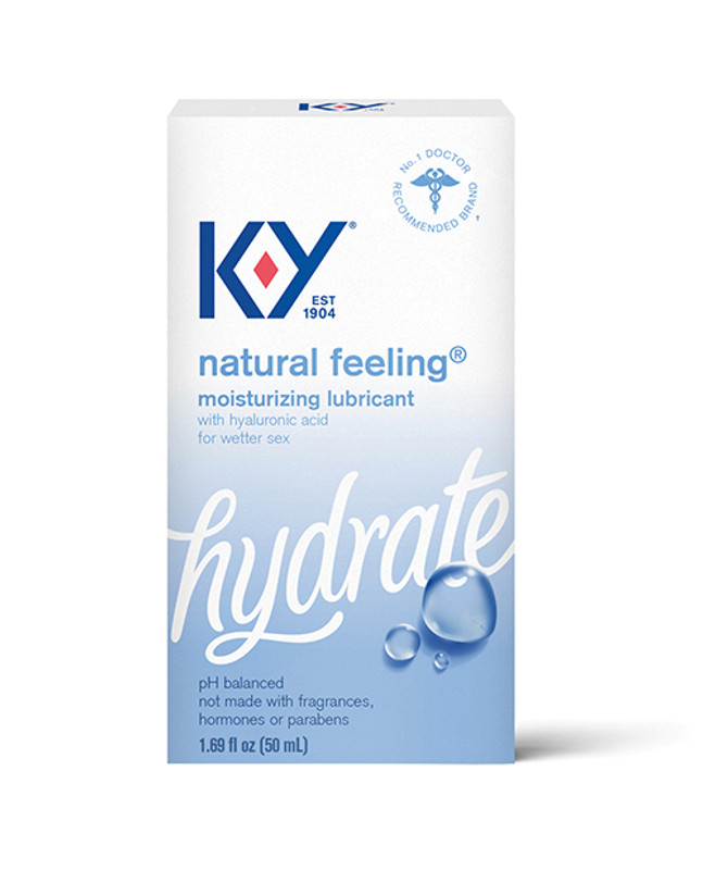 K-Y Natural Feeling With Hyaluronic Acid Water Based Personal Lubricant - 1.69 Oz