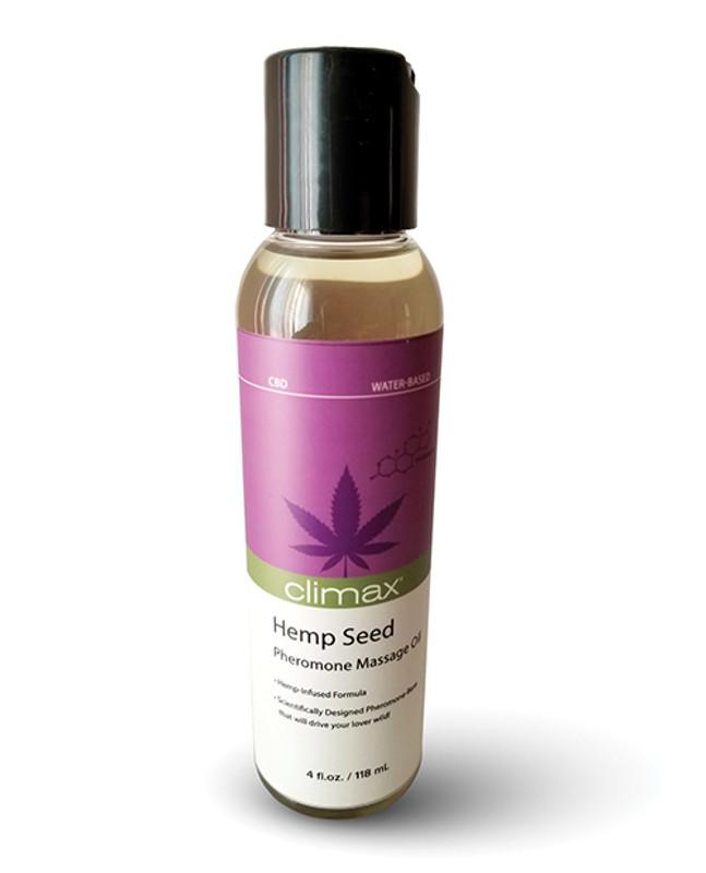 Climax Hemp Seed Pheromone Massage Oil - 4 Oz
