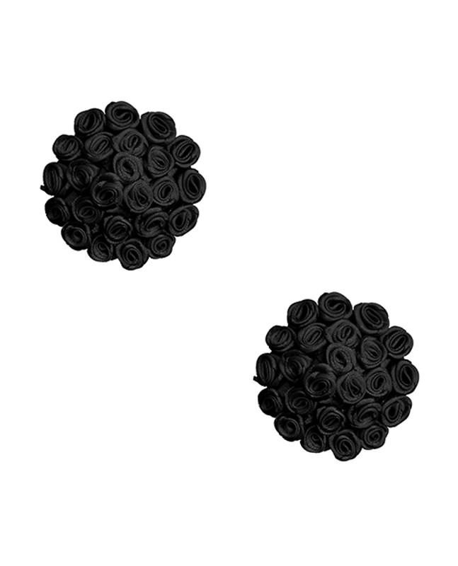 Neva Nude Burlesque Nightfall Roses Reusable Silicone Nipzitx Pasties - Black O/s