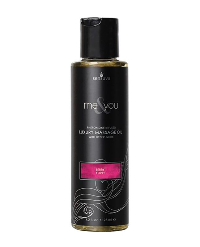 Sensuva Me & You Massage Oil - 4.2 Oz Berry Flirty