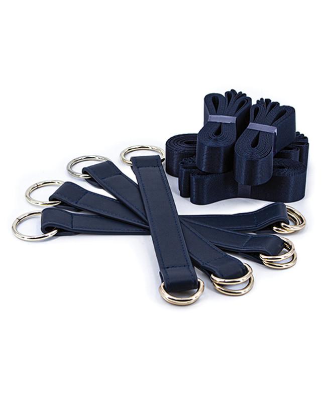 Bondage Couture Tie Down Straps - Blue