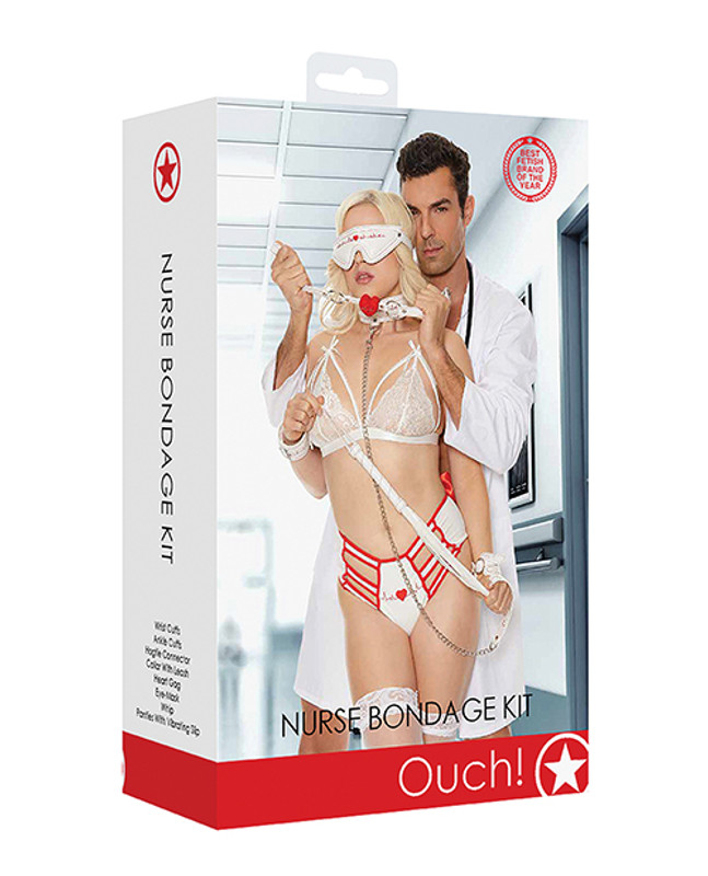 Shots Ouch Nurse Fetish Bondage Restraint Kit