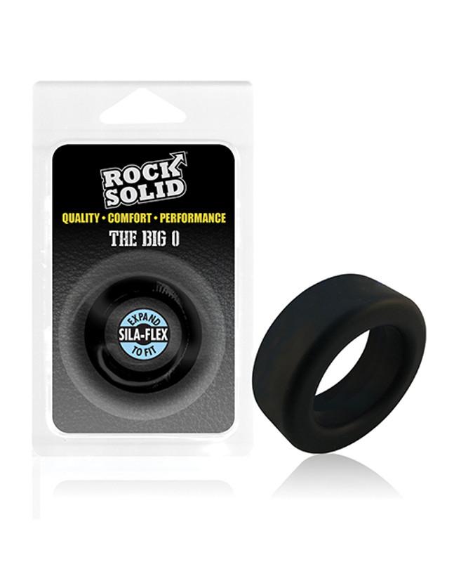 Rock Solid Big O Cock Ring - Black