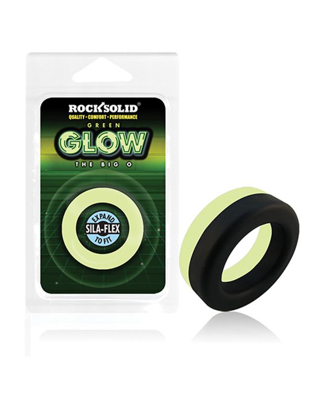 Rock Solid Glow In The Dark  Big O Ring - Black/green