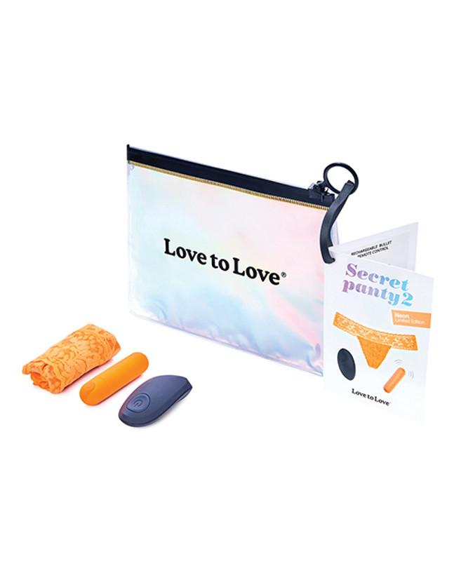 Love To Love Secret Panty Vibrator 2 - Neon Orange