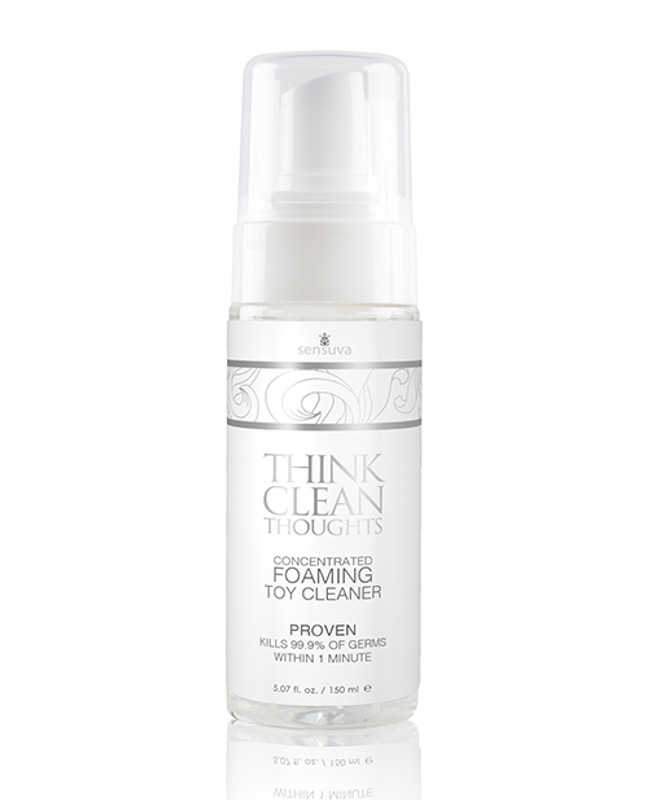 Sensuva Think Clean Thoughts Foaming Sex Toy Cleaner - 5.07 Oz