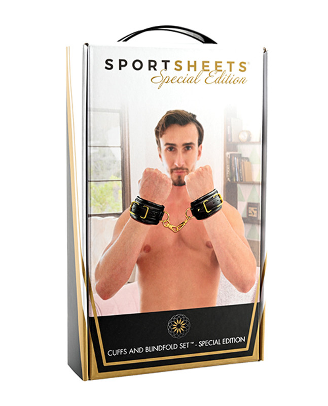 Sportsheets Cuffs & Blindfold Set - Special Edition