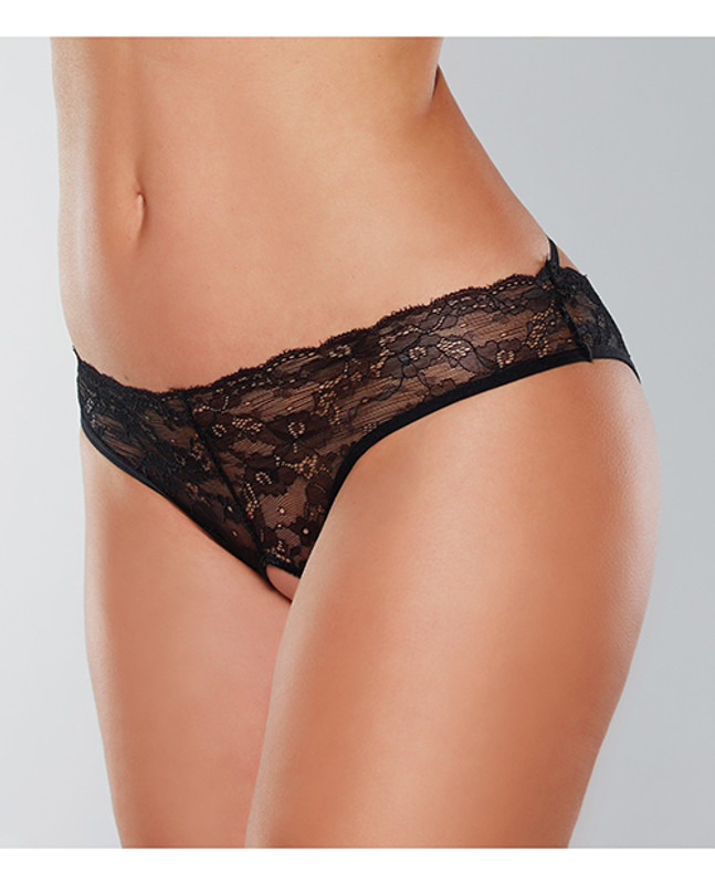 Adore Crush Lace Open Panty Black O/s