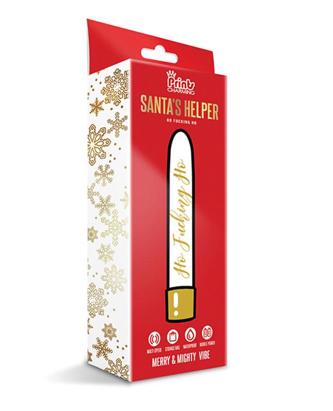 Santa's Helper Merry & Mighty Vibe W/storage Bag - Ho Fucking Ho