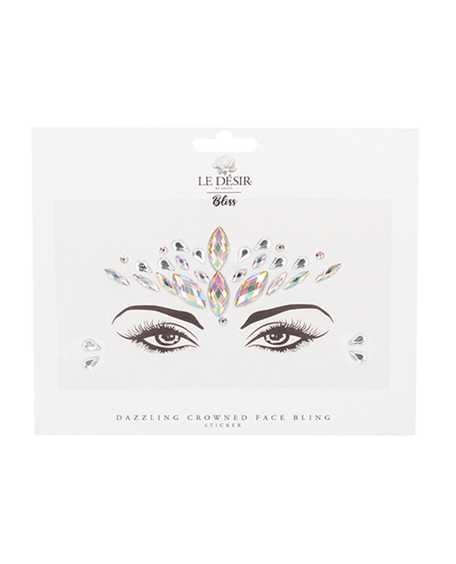 Shots Bliss Dazzling Crowned Face Bling Sticker O/s