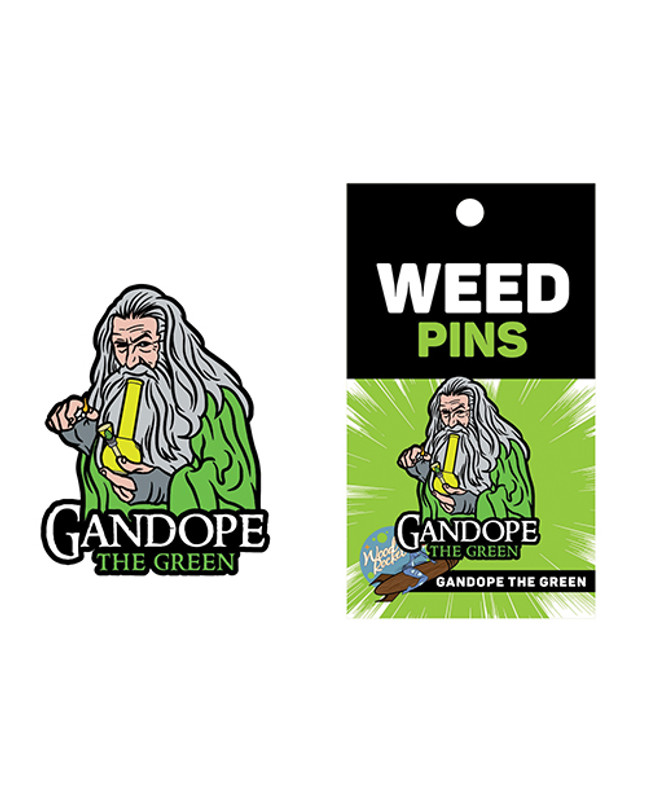 Wood Rocket Weed Gandope The Green Large Pin - Multi Color