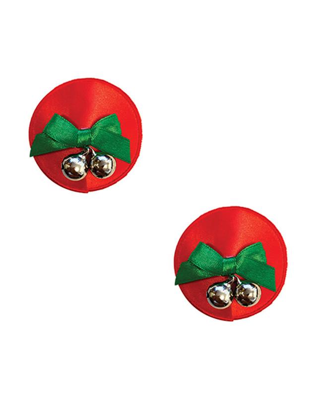 Burlesque Jingle Deez Bells Reusable Silicone Nipztix - Red O/s