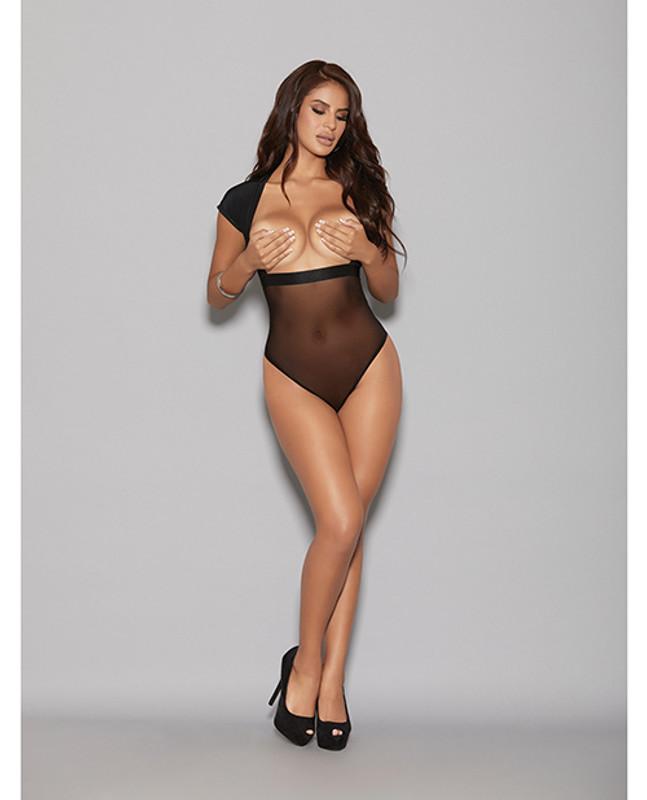 Lingerize Multiwear Teddy (customize W/your Favorite Bra) Black S/m