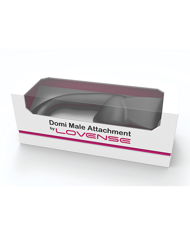 Lovense Domi Flexible Rechargeable Mini Wand Male Attachment - Black