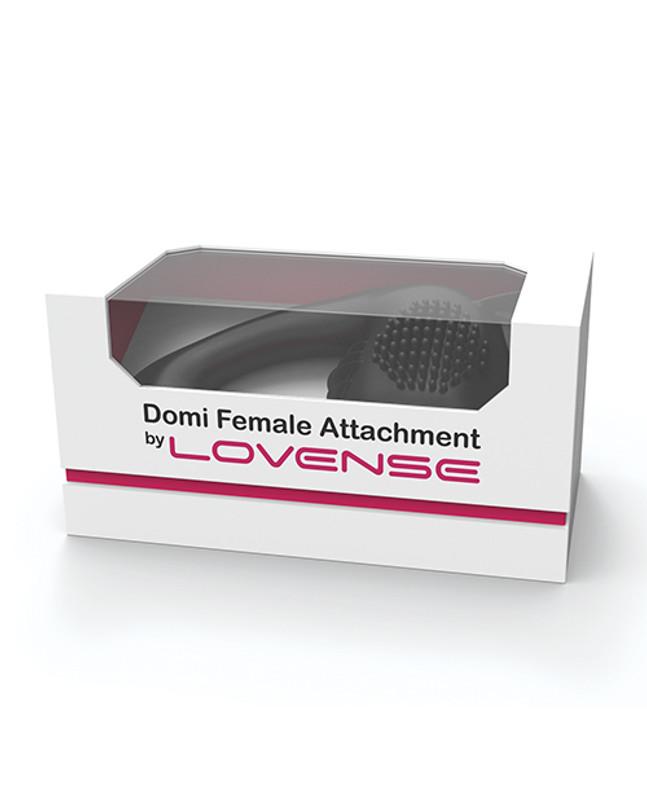 Lovense Domi Flexible Rechargeable Mini Wand Female Attachment - Black