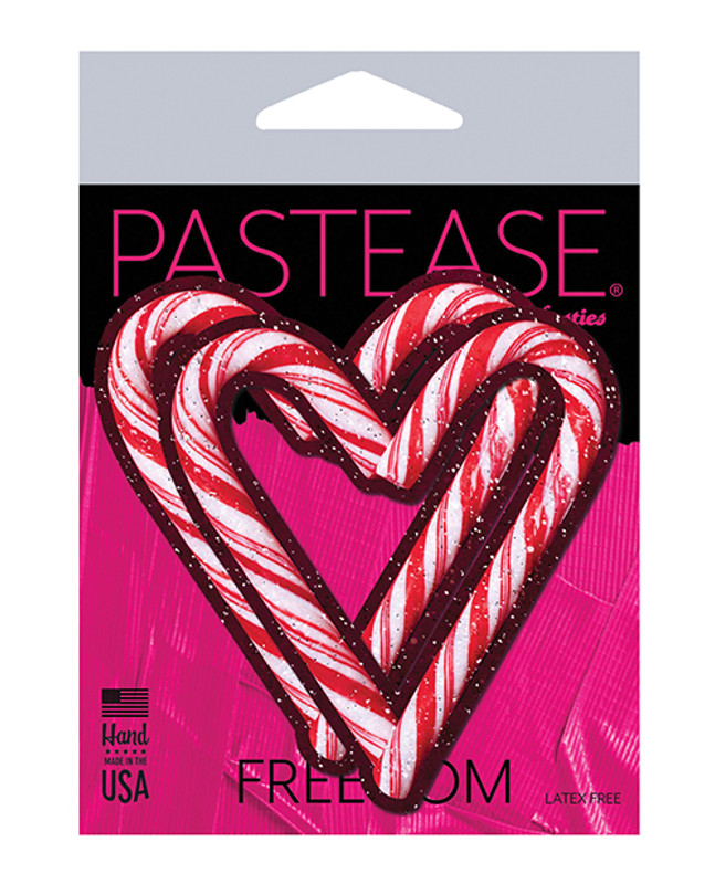 Pastease Holiday Candy Cane Heart  - Red/white O/s