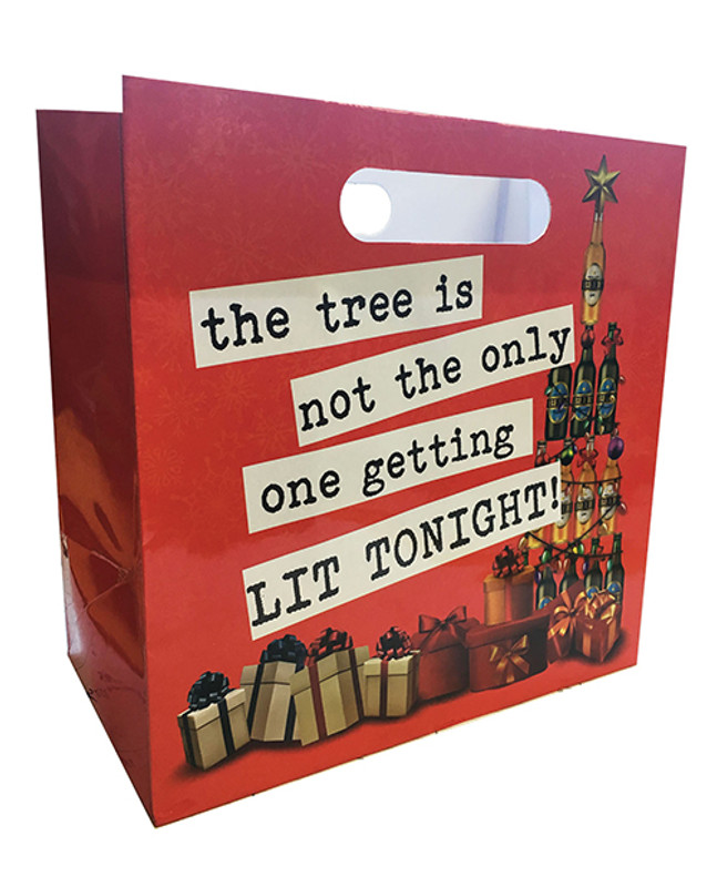 The Tree Is Not The Only One Getting Lit Tonight Gift Bag - 6 Pack