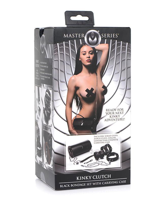 Master Series Kinky Clutch Black Bondage Set W/carrying Case