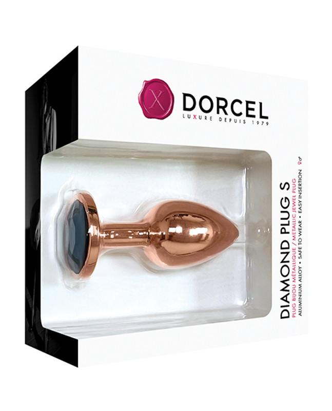 Dorcel Aluminium Bejeweled Diamond Plug - Rose Gold Small