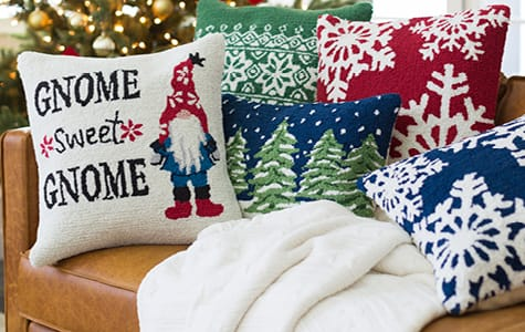 Christmas Themed Pillows & Blankets