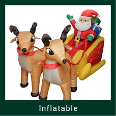 Inflatable Outdoor Santa & Reindeer Decoration