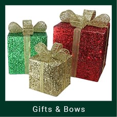 Red, Green & Gold Christmas Gift Boxes