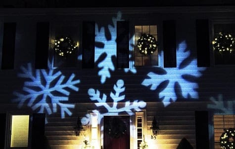 Christmas Projector with Snowflake Projections